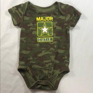 Major C.U.T.I.E Baby Camouflage Onesie